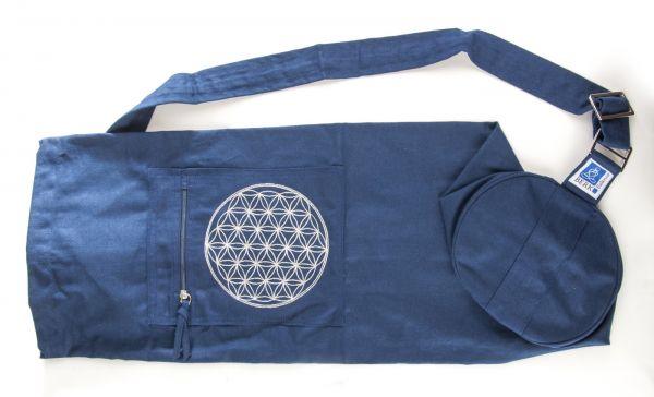 Berk Yoga Tasche mit Blume des Lebens - Blau