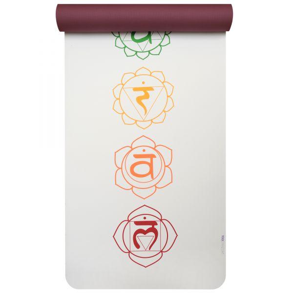 YogiStar Yogamatte Yogimat Art Collection - Pro chakra white/red