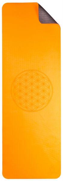 Berk Yogamatte TPE ecofriendly - orange/grau