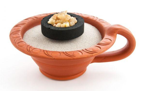 Makal rot - Räuchergefäß aus Ton