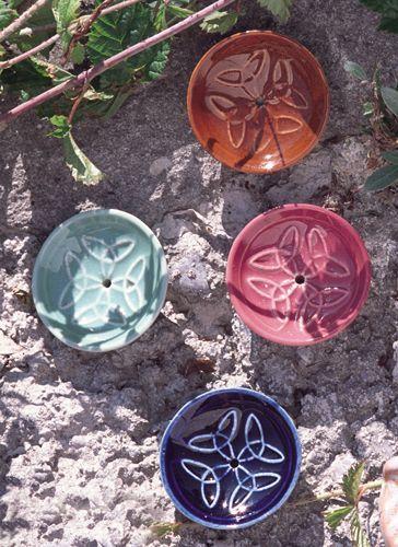 Keramikhalter rund, verschiedene Farben