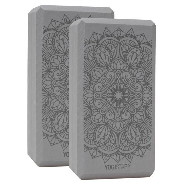 YogiStar Yogablock Yogiblock Basic Art Collection - Lotus Mandala Graphite 2er Set