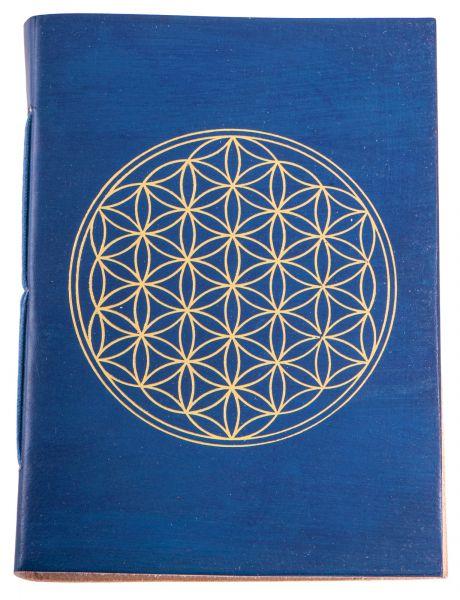 Berk Schreibbuch Lebensblume - blau/gold