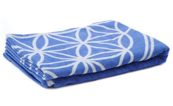 YogiStar Baumwolldecke Blume des Lebens - blau