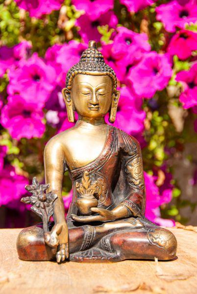 Berk Statue - Medizin Buddha, Messing 19,5 cm