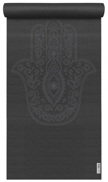YogiStar Yogamatte Yogimat Art Collection - Hand of Fatima zen black