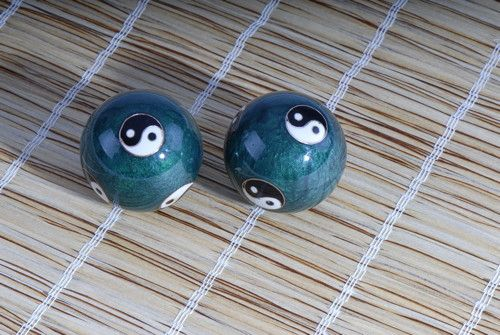 Berk Klangkugeln - Yin Yang grün