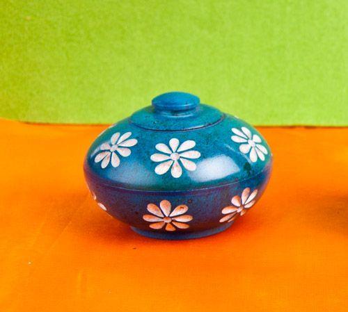 Berk Blumendöschen, Blau