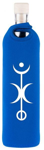 YogiStar Flaska Trinkflasche Spiritual Neopren - 0,75 L blau - Freiheit