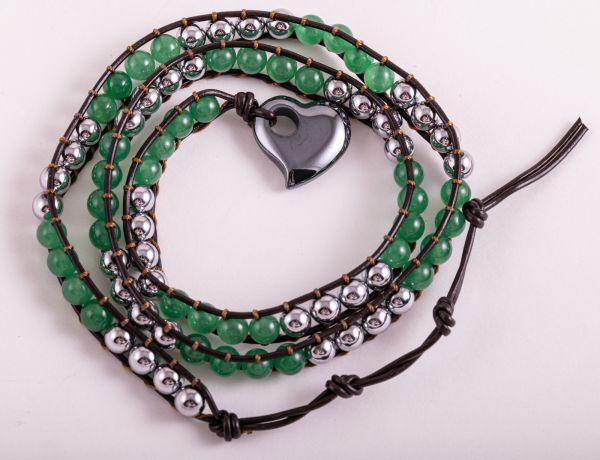 Berk Magnet - Wickelarmband, grüner Aventurin