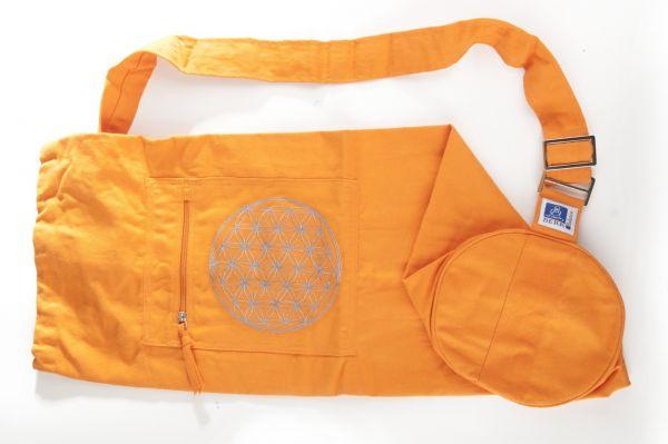 Berk Yoga Tasche mit Blume des Lebens - Orange