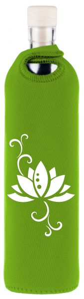 YogiStar Flaska Trinkflasche Neo Design - 0,75 L grün - lotus