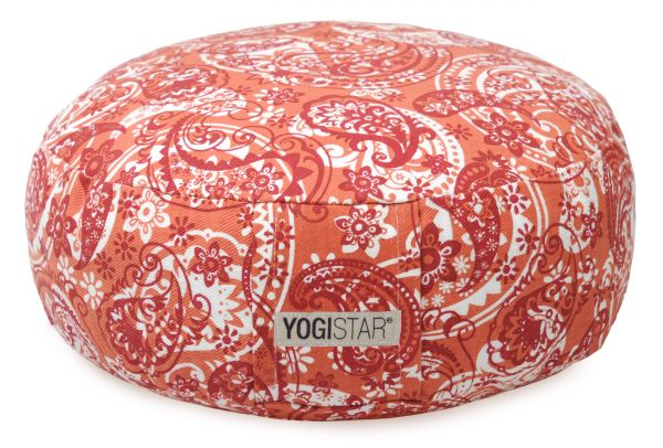 YogiStar Meditationskissen Art Collection - Rund orange/red
