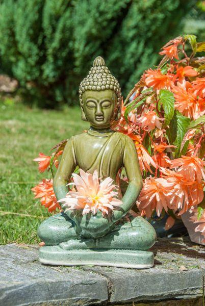 Berk Statue - Buddha mit Teelicht, Keramik