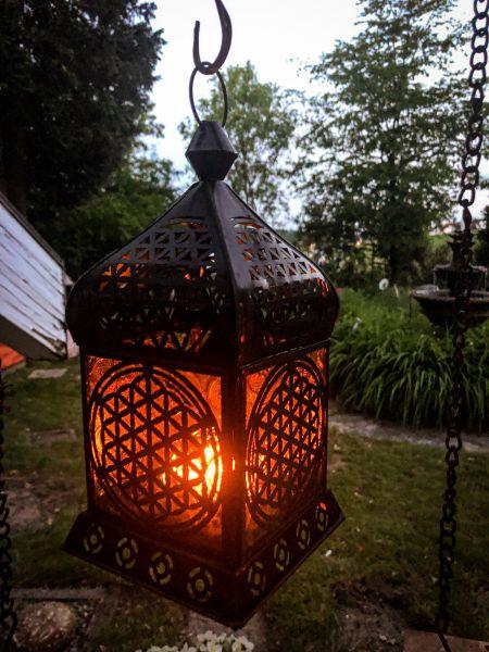 Berk Orientalisches Licht - Blume des Lebens Antik - Zink