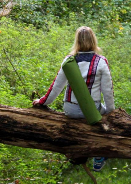 Bloom organic cotton Yoga bag - Green