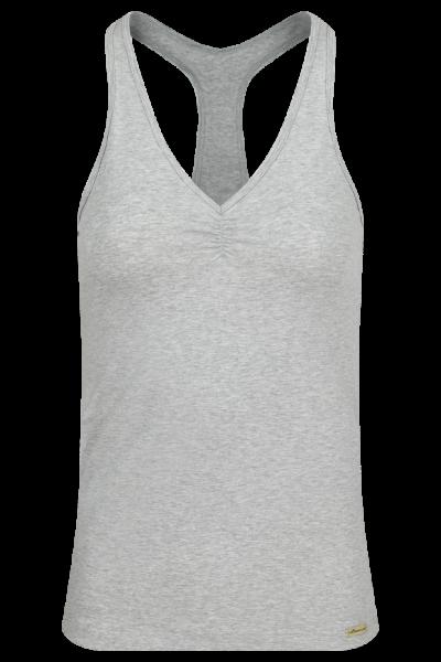 Comazo Fairtrade Ringershirt Grau-Melange von vorne